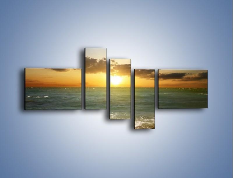 Obraz na płótnie – Kamienisty brzeg i jego spokój – pięcioczęściowy KN482W5