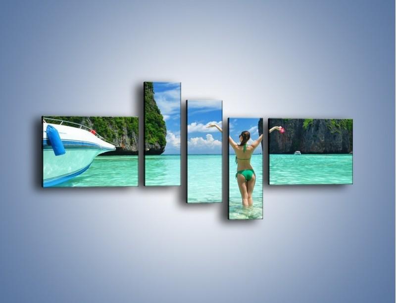 Obraz na płótnie – Udane wakacje w ciepłych krajach – pięcioczęściowy KN530W5