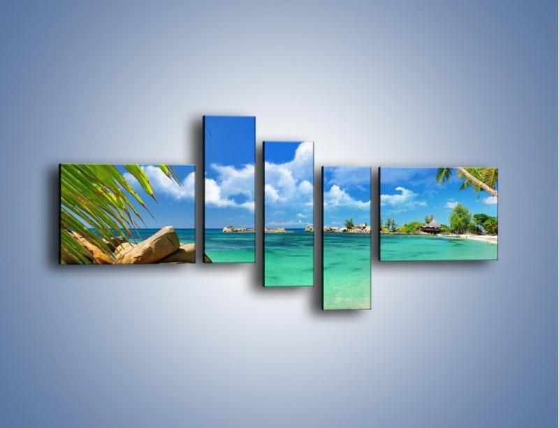 Obraz na płótnie – Tropikalna wyspa z katalogu – pięcioczęściowy KN565W5