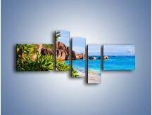 Obraz na płótnie – Brzeg morza jak z bajki – pięcioczęściowy KN755W5