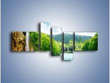 Obraz na płótnie – Cały urok górskich wodospadów – pięcioczęściowy KN769W5
