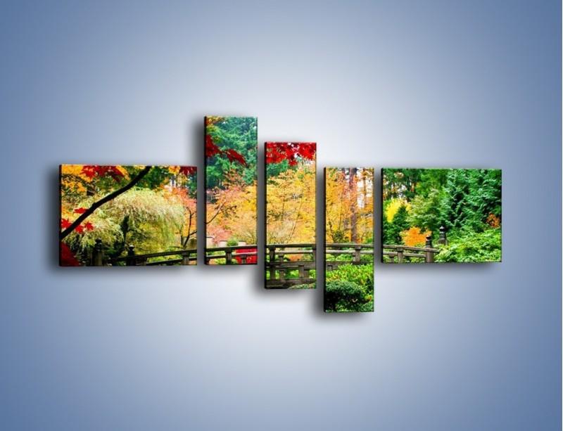 Obraz na płótnie – Mostem do roślinnego raju – pięcioczęściowy KN782W5