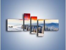 Obraz na płótnie – Cały urok gór zimą – pięcioczęściowy KN805W5