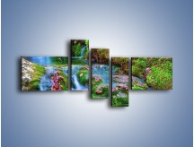 Obraz na płótnie – Bajkowy pejzaż – pięcioczęściowy KN841W5