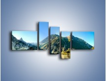 Obraz na płótnie – Chłodny klimat górski – pięcioczęściowy KN844W5