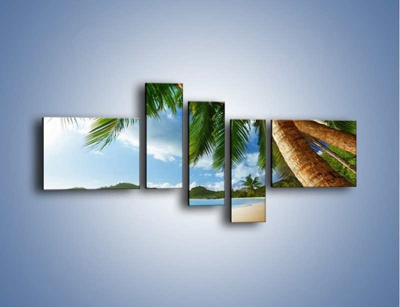 Obraz na płótnie – Idealne miejsce na ziemi – pięcioczęściowy KN847W5