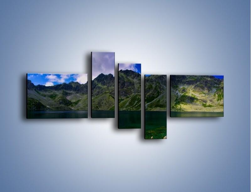 Obraz na płótnie – Horyzont górskich szczytów – pięcioczęściowy KN856W5
