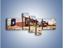 Obraz na płótnie – Autem przez texas – pięcioczęściowy KN874W5