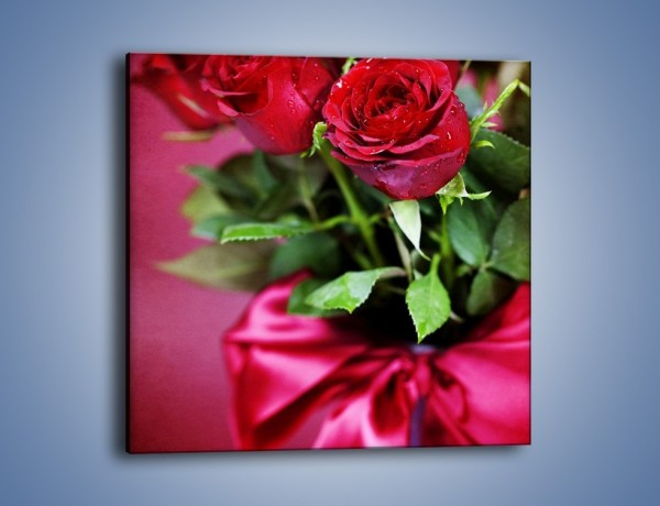 Obraz na płótnie – Róża z charakterem – jednoczęściowy kwadratowy K214