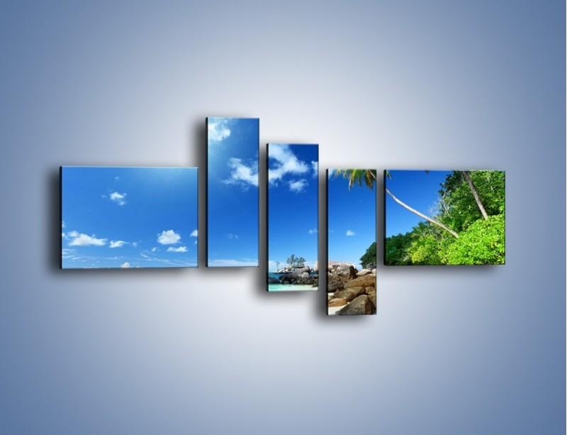 Obraz na płótnie – Rajska plaża i jej piękno – pięcioczęściowy KN963W5