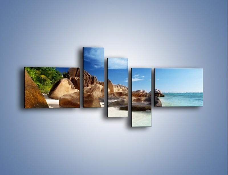 Obraz na płótnie – Niewyobrażalny błękit oceanu – pięcioczęściowy KN986W5