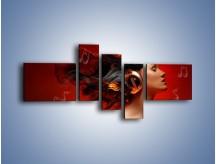 Obraz na płótnie – Gorące rytmy i nuty – pięcioczęściowy L020W5