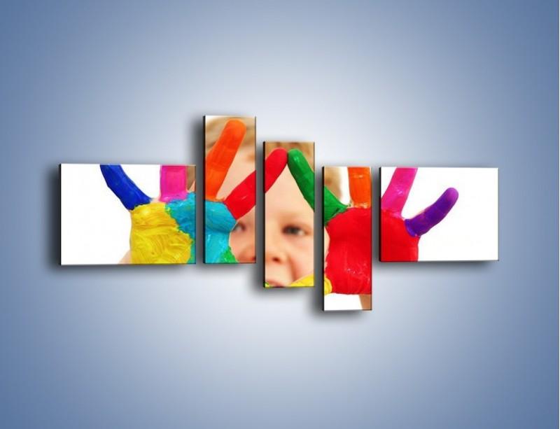 Obraz na płótnie – Kolorowy dziecięcy świat – pięcioczęściowy L053W5