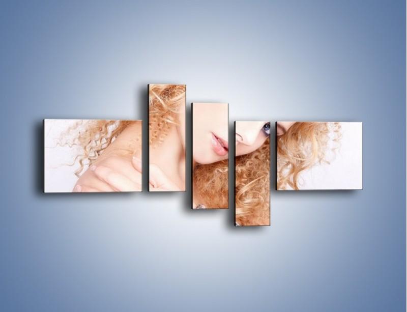 Obraz na płótnie – Kobieta i diamenty – pięcioczęściowy L081W5