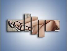 Obraz na płótnie – Kobiecość na wysokich szpilkach – pięcioczęściowy L238W5