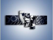 Obraz na płótnie – Czarno-biała dama – pięcioczęściowy L315W5