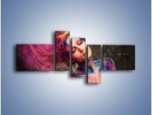 Obraz na płótnie – Kobiece kolory na ciele – pięcioczęściowy L340W5