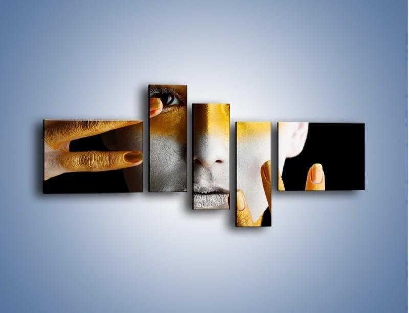 Obraz na płótnie – Farby do twarzy i ciała – pięcioczęściowy L345W5
