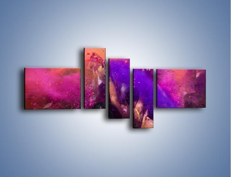 Obraz na płótnie – Burza kolorowego piachu – pięcioczęściowy L357W5