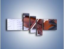 Obraz na płótnie – Melodia grana na skrzypcach – pięcioczęściowy O003W5