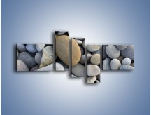 Obraz na płótnie – Kamienie duże i małe – pięcioczęściowy O006W5
