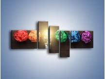 Obraz na płótnie – Ekologia w kolorze – pięcioczęściowy O017W5
