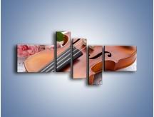 Obraz na płótnie – Miłość wyznana muzyką – pięcioczęściowy O098W5