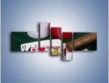 Obraz na płótnie – Męski świat hazardu – pięcioczęściowy O121W5