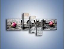 Obraz na płótnie – Miłość pachnąca różami – pięcioczęściowy O146W5