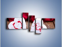 Obraz na płótnie – Dwa idealnie pasujące serca – pięcioczęściowy O211W5