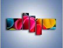 Obraz na płótnie – Kolorowe rulony – pięcioczęściowy O217W5