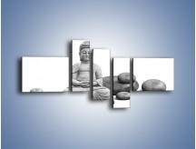 Obraz na płótnie – Budda wśród kamieni – pięcioczęściowy O229W5