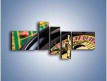 Obraz na płótnie – Czas drogocenny w kasynie – pięcioczęściowy O238W5