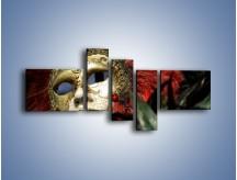 Obraz na płótnie – Maska pełna tajemnicy – pięcioczęściowy O252W5