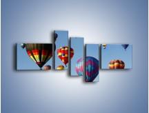 Obraz na płótnie – Kolorowe balony na niebie – pięcioczęściowy TM009W5