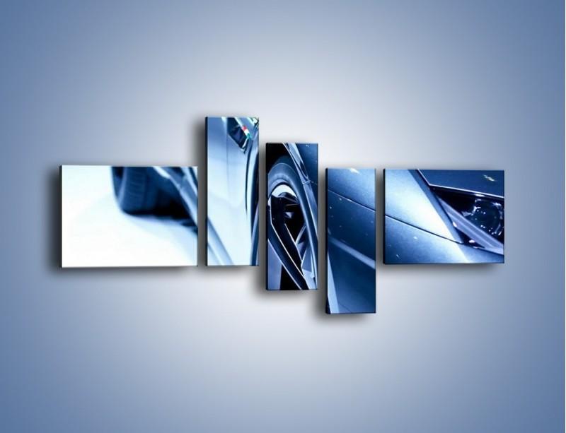 Obraz na płótnie – Niebieskie Lamborgini – pięcioczęściowy TM027W5