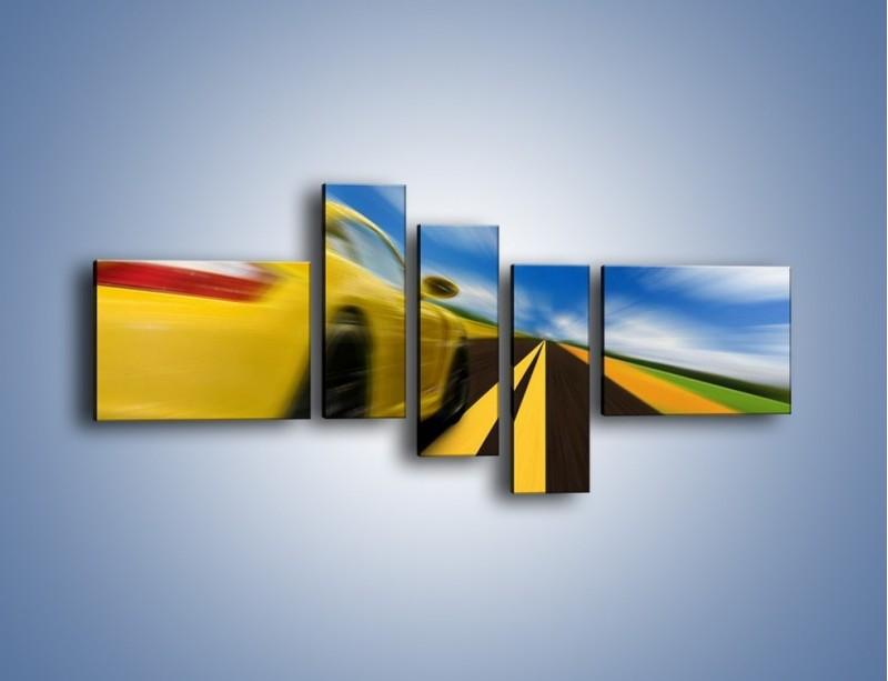 Obraz na płótnie – Pędzące Porsche – pięcioczęściowy TM028W5