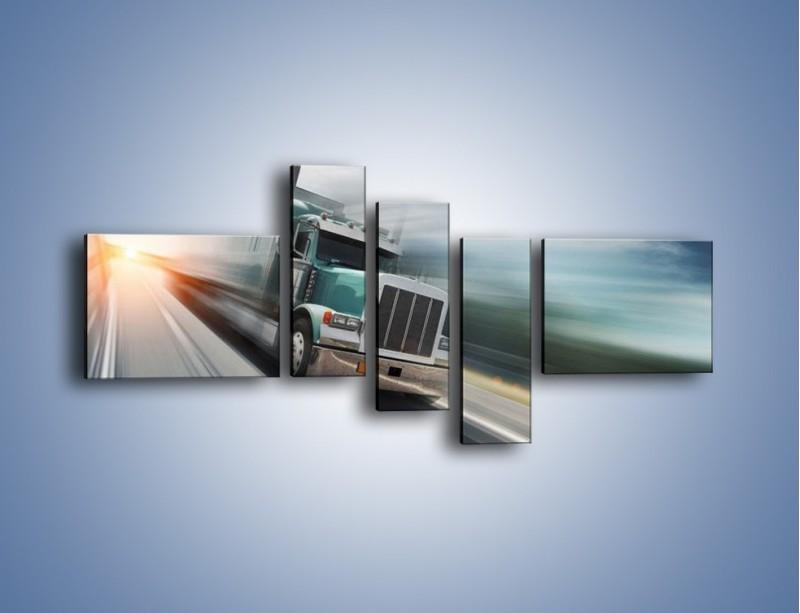 Obraz na płótnie – Pędząca ciężarówka na autostradzie – pięcioczęściowy TM035W5