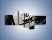 Obraz na płótnie – Gitara na masce Ford Shelby – pięcioczęściowy TM056W5