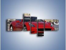 Obraz na płótnie – Czerwone Ferrari California – pięcioczęściowy TM057W5