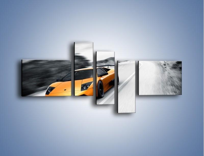 Obraz na płótnie – Lamborghini Murcielago – pięcioczęściowy TM058W5