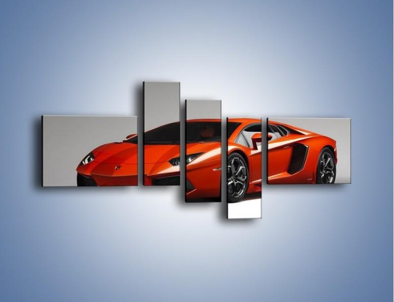 Obraz na płótnie – Lamborghini Aventador – pięcioczęściowy TM067W5