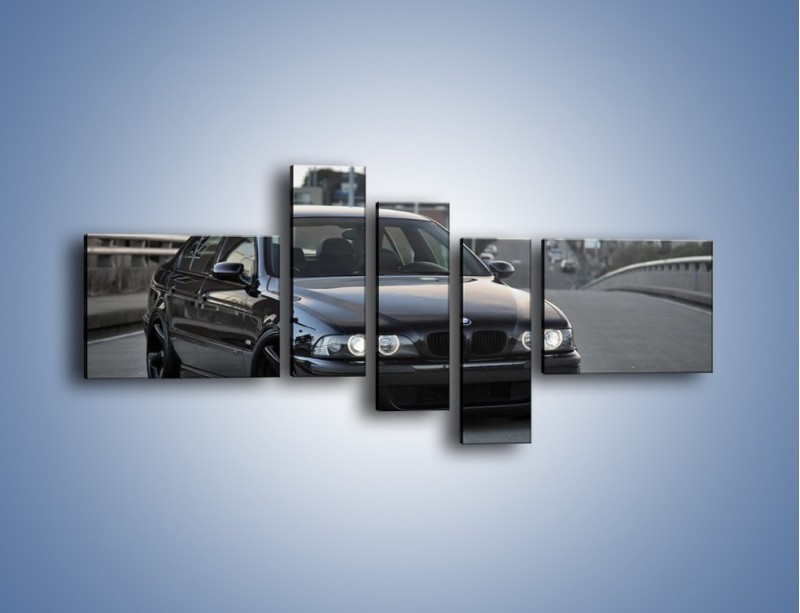 Obraz na płótnie – Czarne BMW E39 M5 – pięcioczęściowy TM072W5