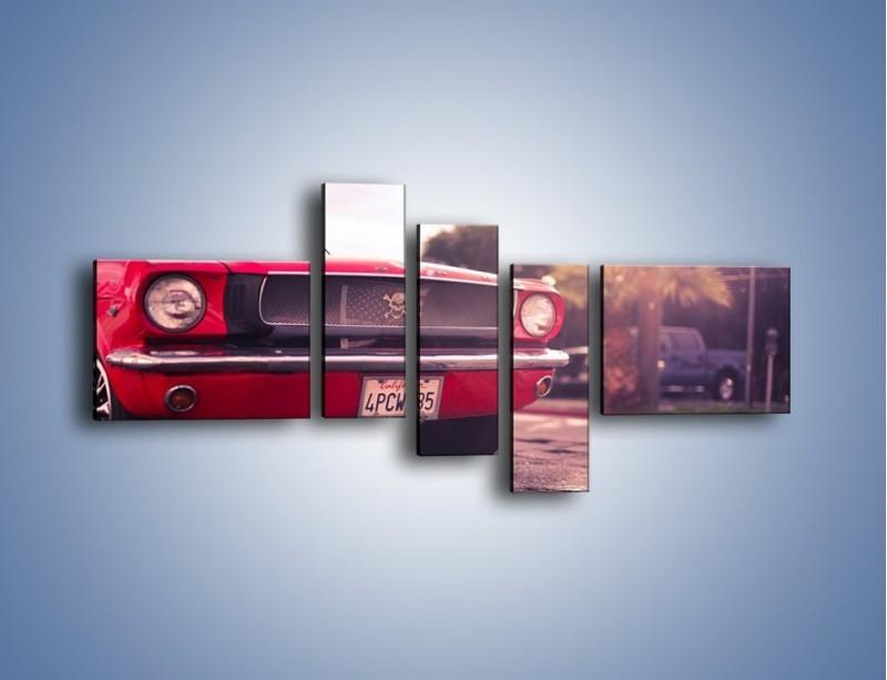 Obraz na płótnie – Czerwony Ford Mustang – pięcioczęściowy TM087W5