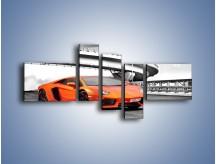 Obraz na płótnie – Lamborghini Aventador na szarym tle – pięcioczęściowy TM237W5