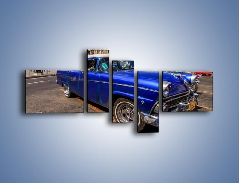 Obraz na płótnie – Klasyczna taksówka na kubańskiej ulicy – pięcioczęściowy TM239W5