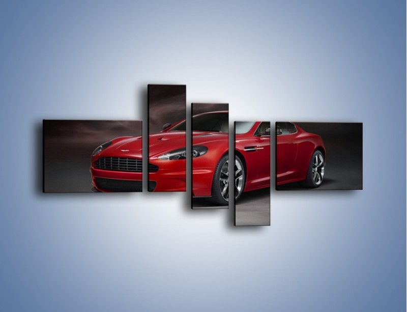 Obraz na płótnie – Aston Martin DBS Carbon Edition – pięcioczęściowy TM242W5