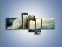 Obraz na płótnie – Donośny krzyk polarnego niedźwiedzia – pięcioczęściowy Z114W5