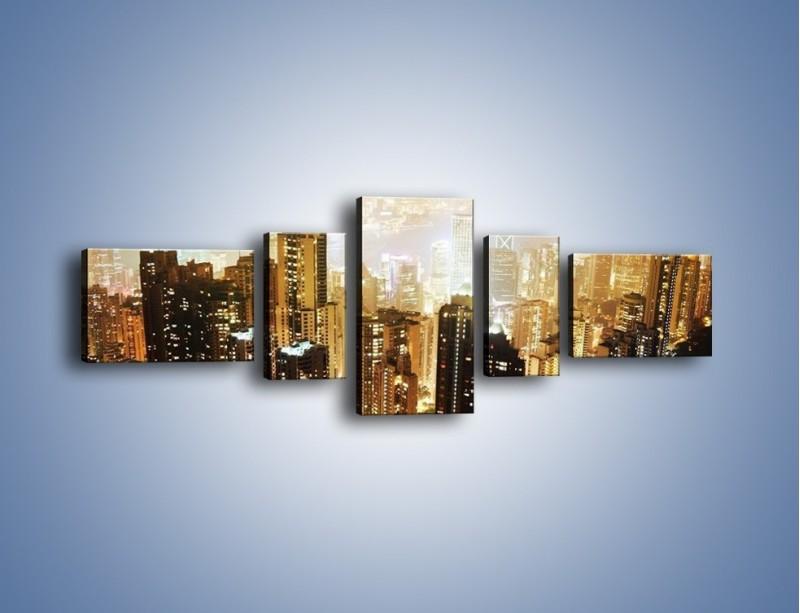 Obraz na płótnie – Miasto widziane z góry – pięcioczęściowy AM007W6