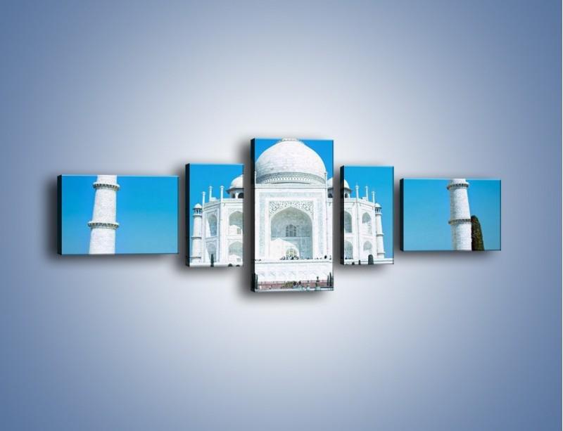 Obraz na płótnie – Taj Mahal pod błękitnym niebem – pięcioczęściowy AM077W6